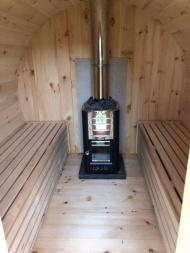 binnenkant Schooner sauna